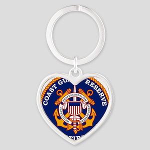 USCGR-Retired-Bonnie Heart Keychain