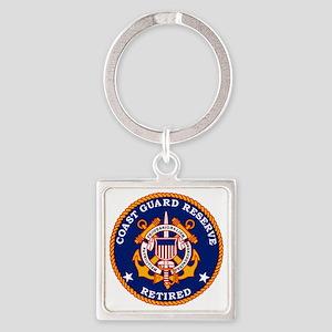 USCGR-Retired-Bonnie Square Keychain