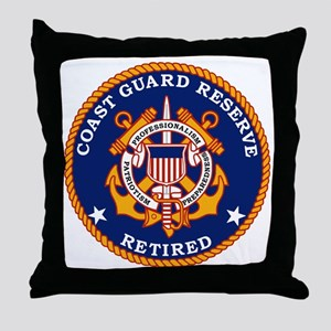 USCGR-Retired-Bonnie Throw Pillow