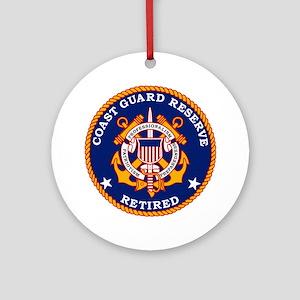 USCGR-Retired-Bonnie Round Ornament