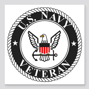 "Navy-Veteran-Bonnie-3.gi Square Car Magnet 3"" x 3"""