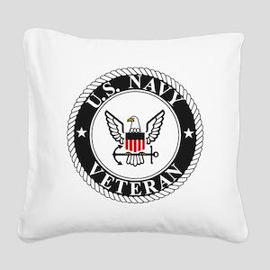 Navy-Veteran-Bonnie-3 Square Canvas Pillow