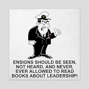 Navy-Humor-Ensigns-Right-Sleeve Queen Duvet