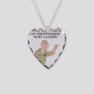 Navy-Humor-Dress-Khakis Necklace Heart Charm