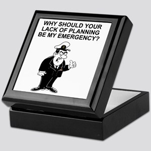 Navy-Humor-Lack-Of-Planning-Right-Sle Keepsake Box