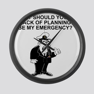 Navy-Humor-Lack-Of-Planning-Right Large Wall Clock