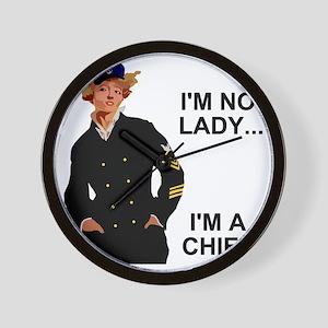 Navy-Humor-Im-A-Chief-G Wall Clock