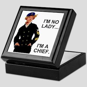 Navy-Humor-Im-A-Chief-G Keepsake Box