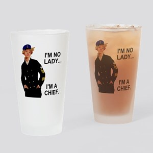 Navy-Humor-Im-A-Chief-G Drinking Glass
