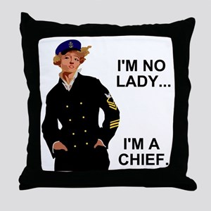 Navy-Humor-Im-A-Chief-G Throw Pillow