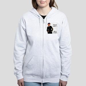 Navy-Humor-Im-A-Chief-G Women's Zip Hoodie