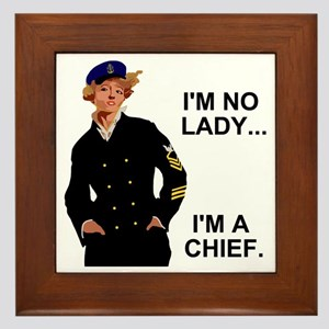 Navy-Humor-Im-A-Chief-G Framed Tile