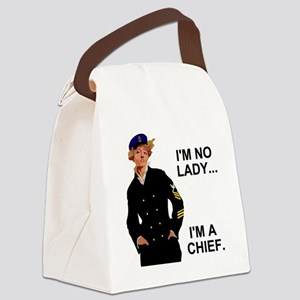 Navy-Humor-Im-A-Chief-G Canvas Lunch Bag