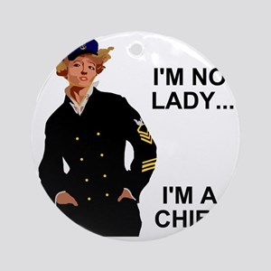 Navy-Humor-Im-A-Chief-G Round Ornament