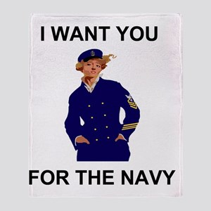 Navy-Humor-I-Want-Lady-CPO-G Throw Blanket