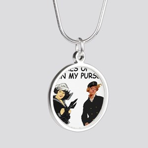 Navy-Humor-Pictures-Of-Ships Silver Round Necklace