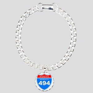 Sign-Minnesota-I494-Blac Charm Bracelet, One Charm