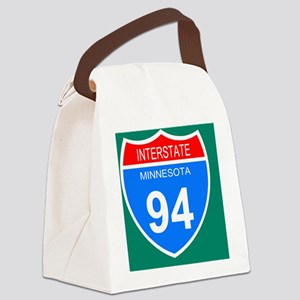 Sign-Minnesota-Interstate-94-Mous Canvas Lunch Bag