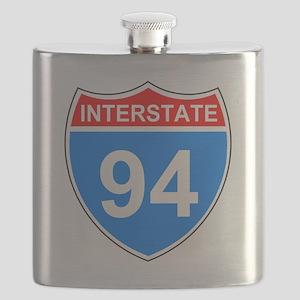 Sign-Interstate-94 Flask