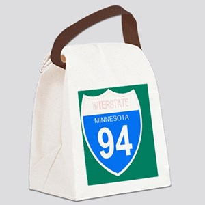 Sign-Minnesota-Interstate-94-Magn Canvas Lunch Bag