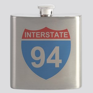Sign-Interstate-94-Black-Shirt Flask