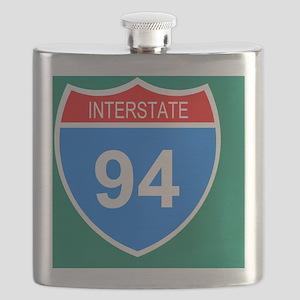 Sign-Interstate-94-Tile Flask