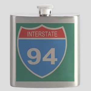 Sign-Interstate-94-Button Flask