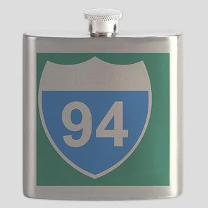 Sign-Interstate-94-Journal Flask