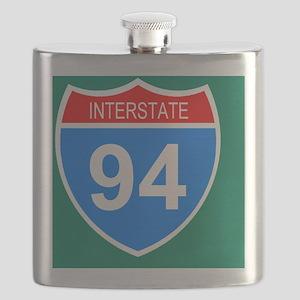 Sign-Interstate-94-Sticker Flask
