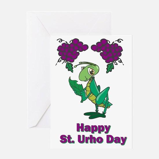 St-Urho-Black-Shirt-2 Greeting Card