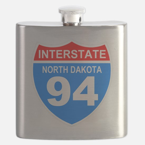 Sign-North-Dakota-Hwy-I94-Black-Shirt Flask