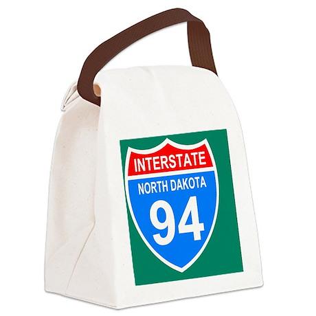 Sign-North-Dakota-Interstate-94-J Canvas Lunch Bag