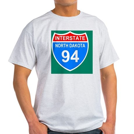 Sign-North-Dakota-Interstate-94-Mous Light T-Shirt
