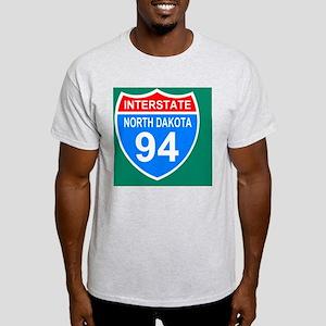Sign-North-Dakota-Interstate-94-Stic Light T-Shirt