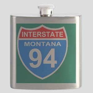 4-3-Sign-Montana-Hwy-I94-Magnet Flask