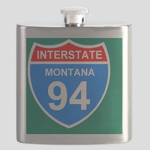 3-Sign-Montana-Hwy-I94-Sticker Flask