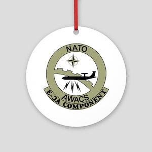 NATO-AWACS-E-3A-Light-Blue-Shirt.gi Round Ornament