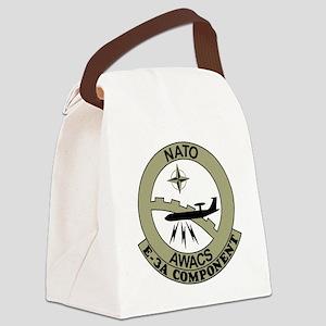 NATO-AWACS-E-3A-Light-Blue-Shirt. Canvas Lunch Bag