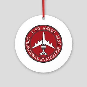 NATO-AWACS-E-3D-Operational-Evaluat Round Ornament