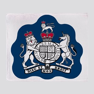 3-RAF-Warrant-Officer-Black-Shirt Throw Blanket