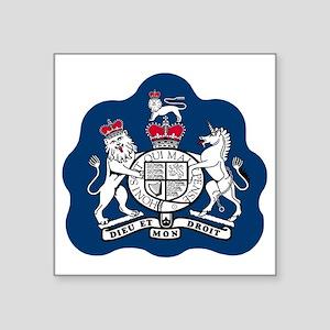 "3-RAF-Warrant-Officer-Black Square Sticker 3"" x 3"""