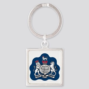 3-RAF-Warrant-Officer-Black-Shirt Square Keychain