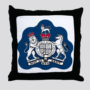 3-RAF-Warrant-Officer-Black-Shirt Throw Pillow