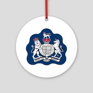 3-RAF-Warrant-Officer-Black-Shirt Round Ornament