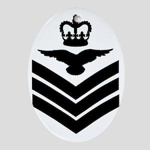 RAF-Flight-Sergeant-Aircrew-Green-Sh Oval Ornament