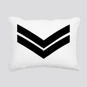 RAF-Corporal-Khaki-Cap.g Rectangular Canvas Pillow