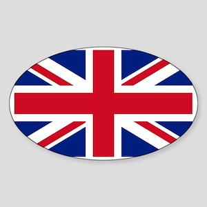 British-Flag Sticker (Oval)