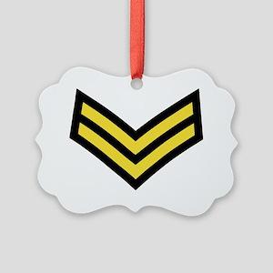 British-Army-Corporal-Gold-Black. Picture Ornament