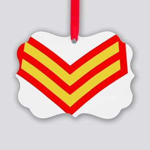 British-Army-Corporal-Gold-Red.gi Picture Ornament