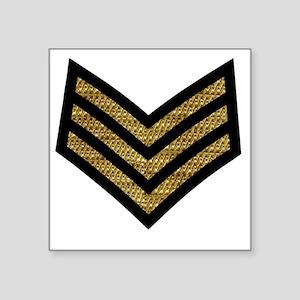 "British-Army-Sergeant-Gold- Square Sticker 3"" x 3"""